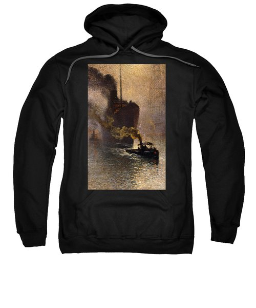 In Tow On The Thames In The Fog Sweatshirt