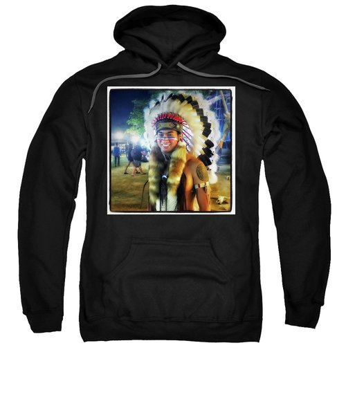 Sweatshirt featuring the photograph Indians Invade Thailand. Cowboys Too by Mr Photojimsf