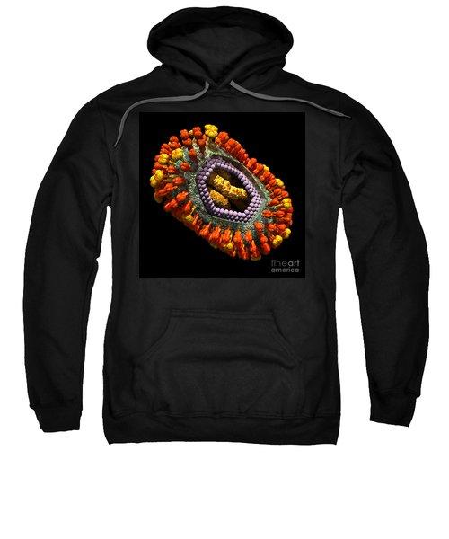 Influenza Virus Cutaway 5 Sweatshirt