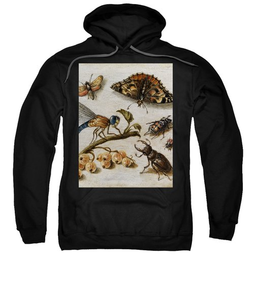 Insects, Currants And Butterfly Sweatshirt