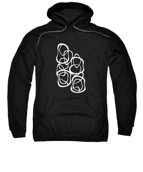 Interlocking - White On Black - Pattern Sweatshirt