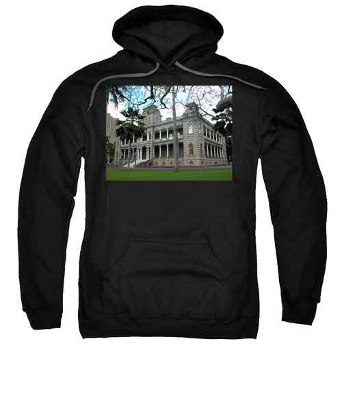 Sweatshirt featuring the photograph Iolani Palace, Honolulu, Hawaii by Mark Czerniec