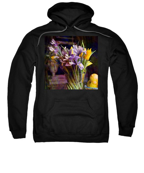 Irises In A Glass Sweatshirt