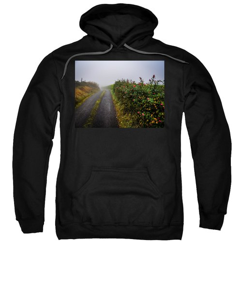 Sweatshirt featuring the photograph Irish County Road In Autumn by James Truett