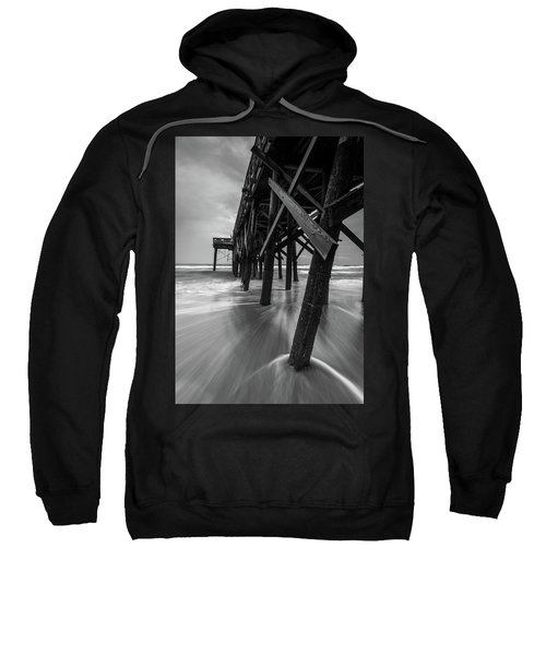 Isle Of Palms Pier Water In Motion Sweatshirt