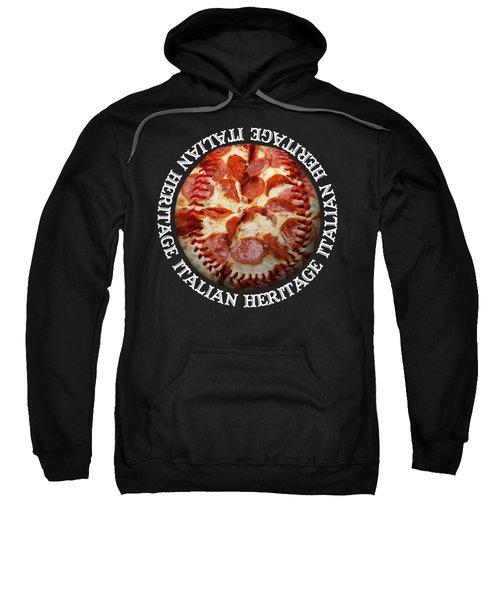 Italian Heritage Baseball Pizza Square Sweatshirt