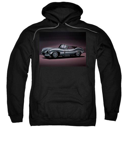 Jaguar Xkss 1957 Painting Sweatshirt