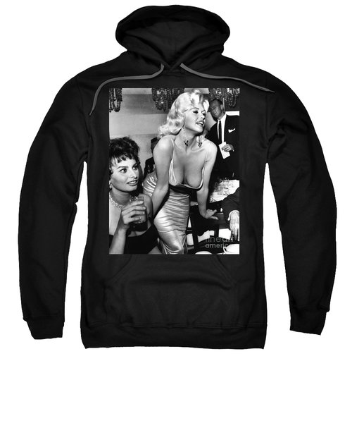 Jayne Mansfield Hollywood Actress And, Italian Actress Sophia Loren 1957 Sweatshirt