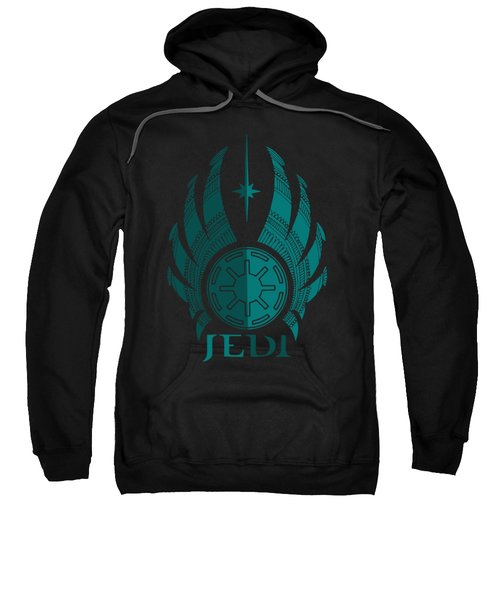 Jedi Symbol - Star Wars Art, Blue Sweatshirt