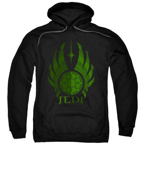 Jedi Symbol - Star Wars Art, Green Sweatshirt