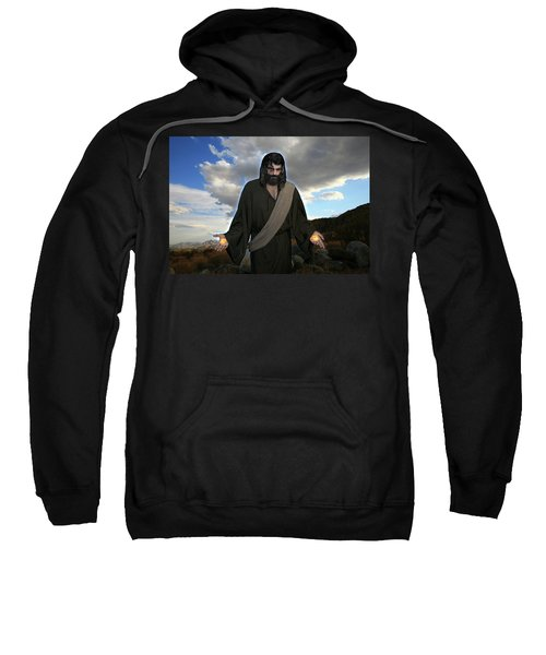 Jesus Christ- And He Withdrew Himself Into The Wilderness And Prayed Sweatshirt