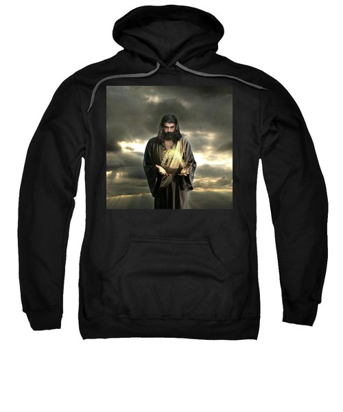 Jesus In The Clouds With Radiant Power Sweatshirt