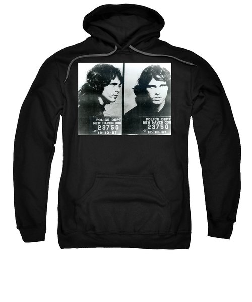 Jim Morrison Mug Shot Horizontal Sweatshirt
