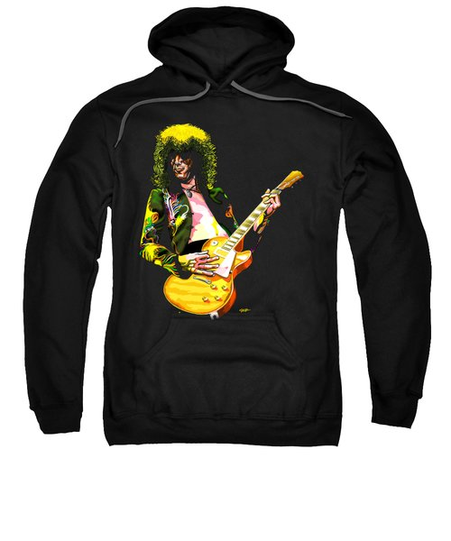 Jimmy Page Of Led Zeppelin Sweatshirt by GOP Art