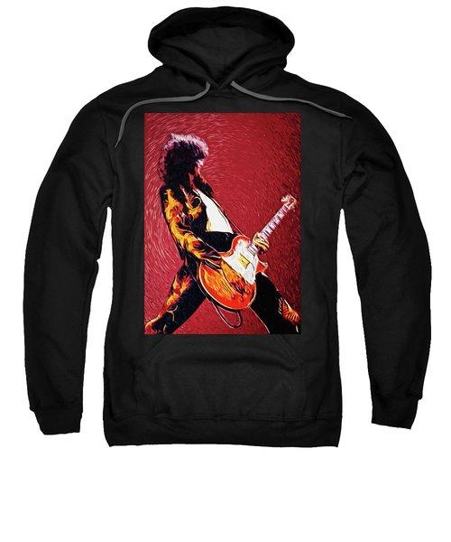 Jimmy Page  Sweatshirt by Taylan Apukovska