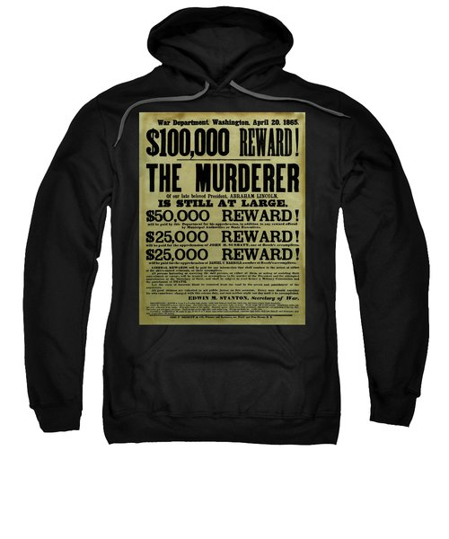 John Wilkes Booth Wanted Poster Sweatshirt