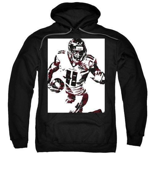 Julio Jones Atlanta Falcons Pixel Art 4 Sweatshirt