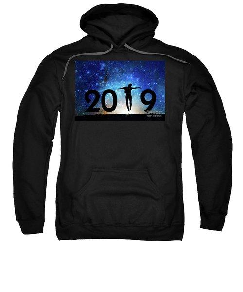 Jump New Year Card Sweatshirt