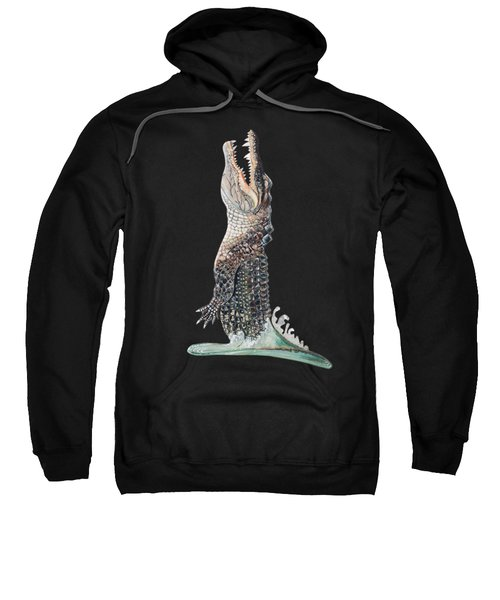 Jumping Gator Sweatshirt by Jennifer Rogers