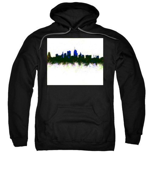 Kansas City Skyline Blue  Sweatshirt by Enki Art