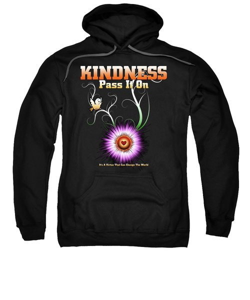 Kindness - Pass It On Starburst Heart Sweatshirt