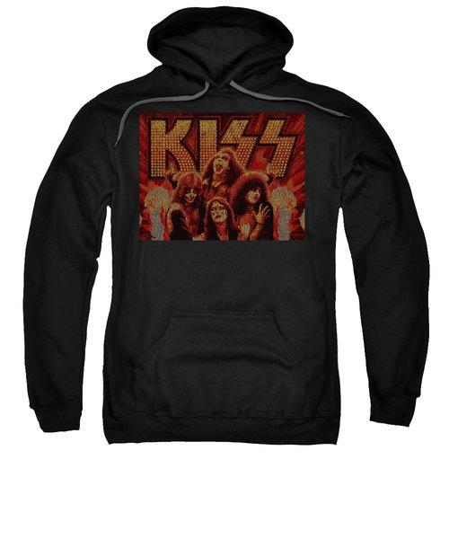 Kiss Concert Songs Mosaic Sweatshirt