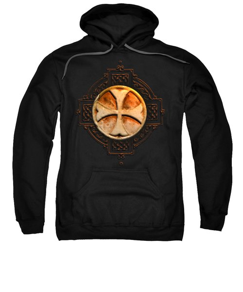 Knights Templar Symbol Re-imagined By Pierre Blanchard Sweatshirt by Pierre Blanchard