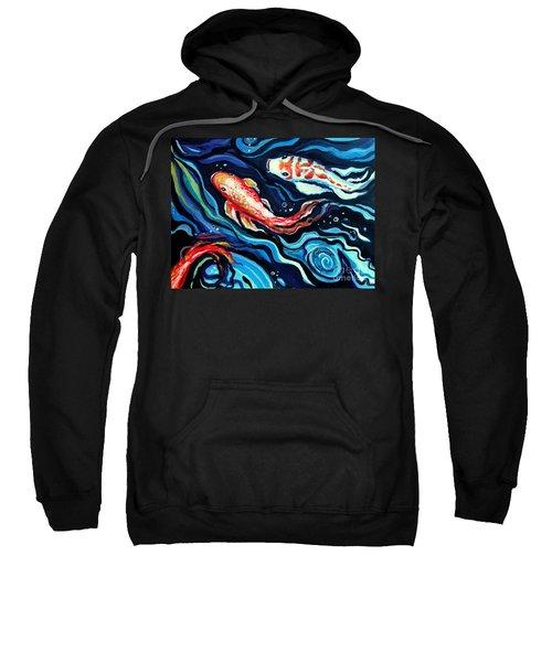 Koi Fish In Ribbons Of Water II Sweatshirt