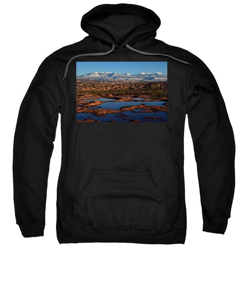 La Sal Mountains And Ephemeral Pools Sweatshirt