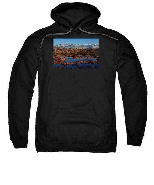 La Sal Mountains And Ephemeral Pools Sweatshirt