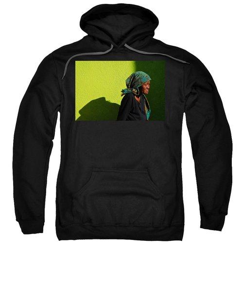 Lady In Green Sweatshirt