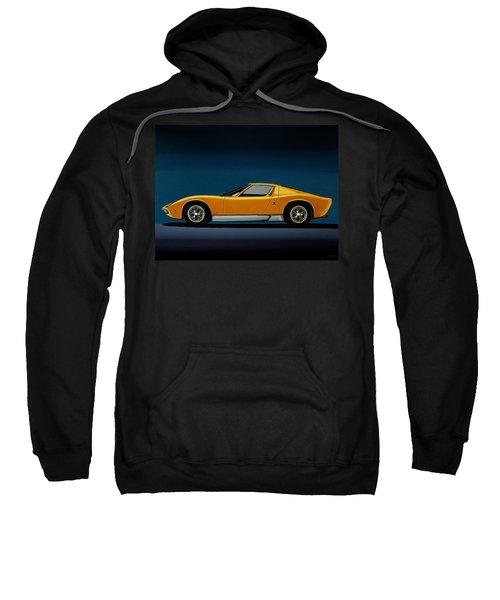 Lamborghini Miura 1966 Painting Sweatshirt