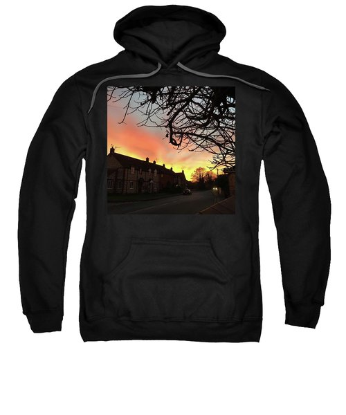 Last Night's Sunset From Our Cottage Sweatshirt