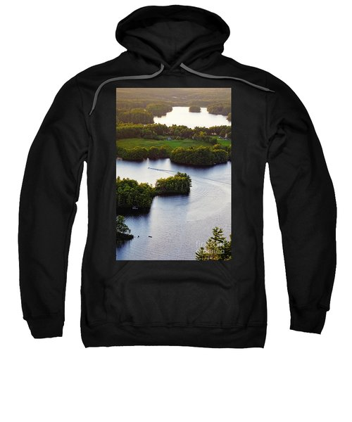 Late Afternoon On Lake Megunticook, Camden, Maine -43988 Sweatshirt