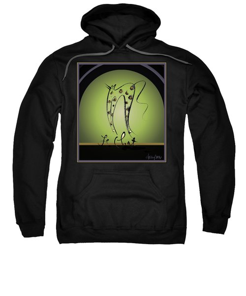 Le Chat - Green And Gold Sweatshirt