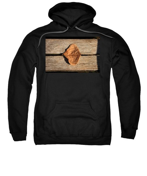 Leaf On Wooden Plank Sweatshirt