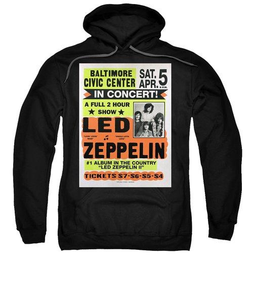 Led Zeppelin Concert Poster 1970 Sweatshirt