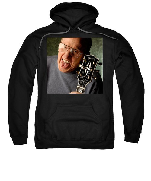Les Paul With Tongue Out By Gene Martin Sweatshirt