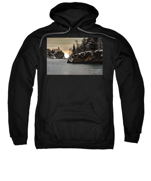 Lighthouse And Island At Dawn Sweatshirt