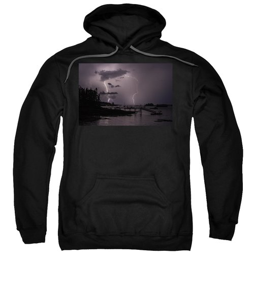 Lightning Over Boothbay Harbor Sweatshirt