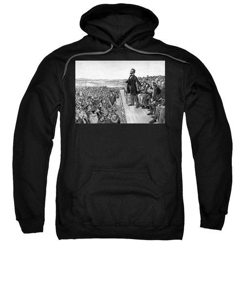 Lincoln Delivering The Gettysburg Address Sweatshirt