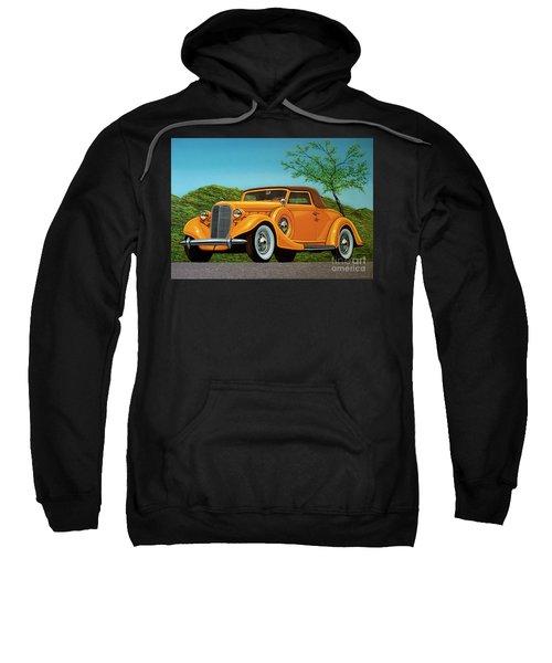 Lincoln K Convertible 1935 Painting Sweatshirt