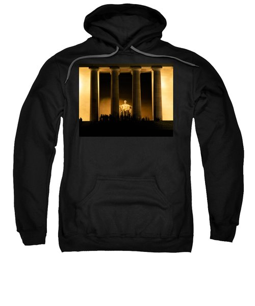 Lincoln Memorial Illuminated At Night Sweatshirt