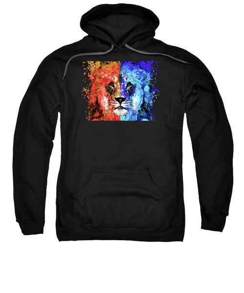 Lion Art - Majesty - Sharon Cummings Sweatshirt by Sharon Cummings