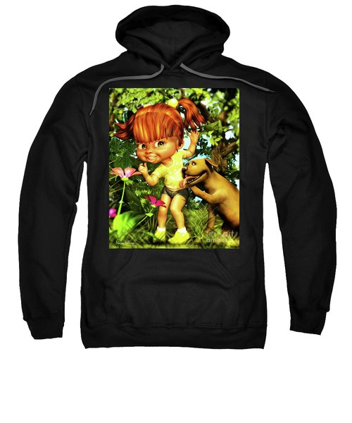 Little Redhead And Her Dog Sweatshirt