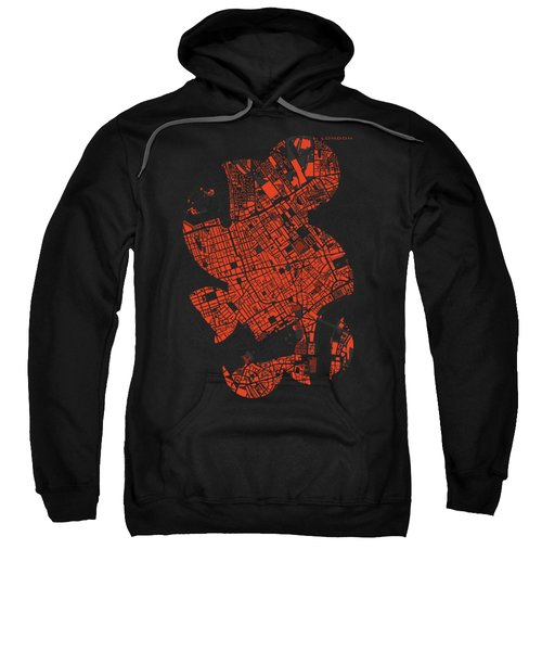 London Engraving Map Sweatshirt by Jasone Ayerbe- Javier R Recco