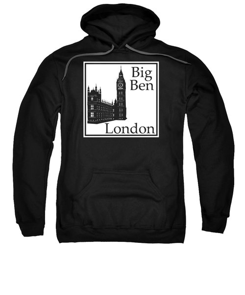 London's Big Ben In White Sweatshirt