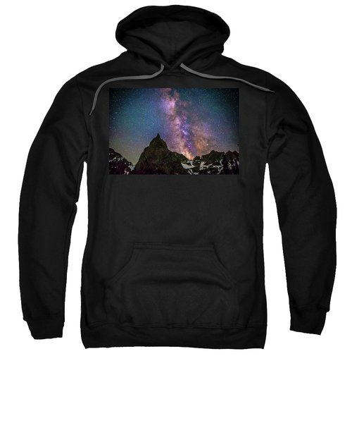 Lone Eagle Peak Dancing In The Milky Way Sweatshirt