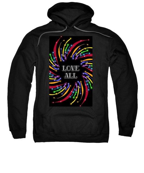 Love All Twinkling Rainbow Sweatshirt