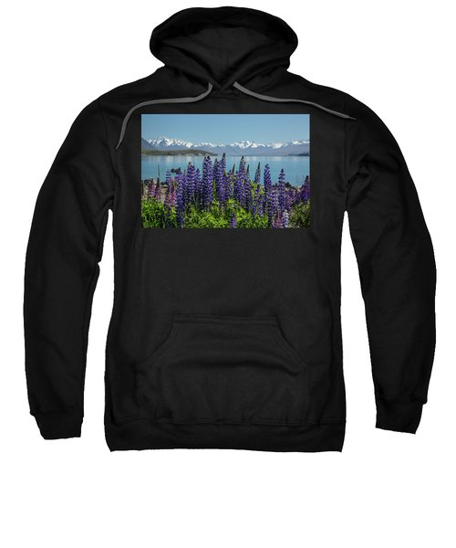 Lupines At Lake Tekapo Sweatshirt
